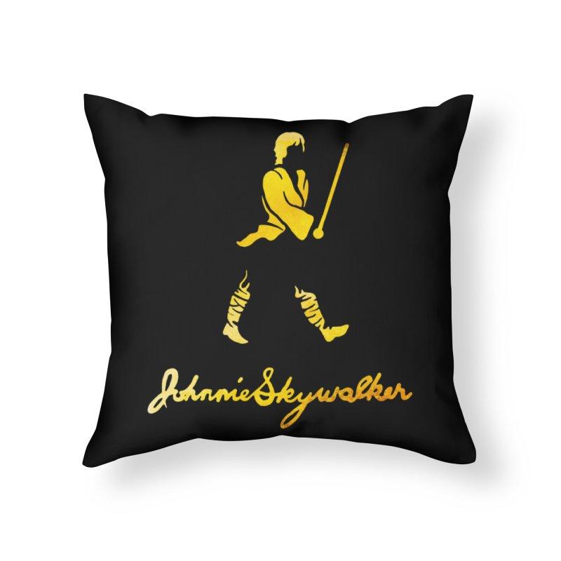 Johnnie Skywalker Home Throw Pillow by Ian Leino @ Threadless