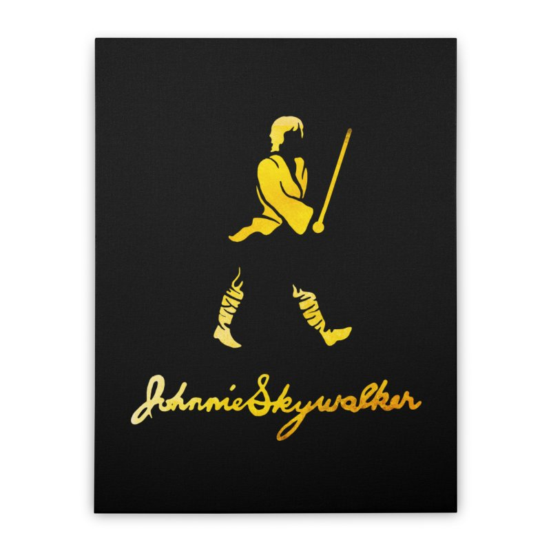 Johnnie Skywalker Home Stretched Canvas by Ian Leino @ Threadless