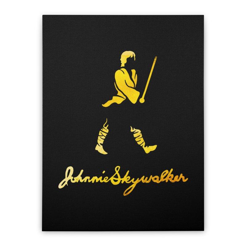 Johnnie Skywalker Home Stretched Canvas by Ian Leino @ Threadless