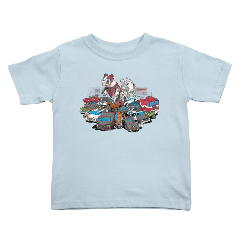 Raiders of the Lost Parts Kids Toddler T-Shirt by Ian Leino @ Threadless
