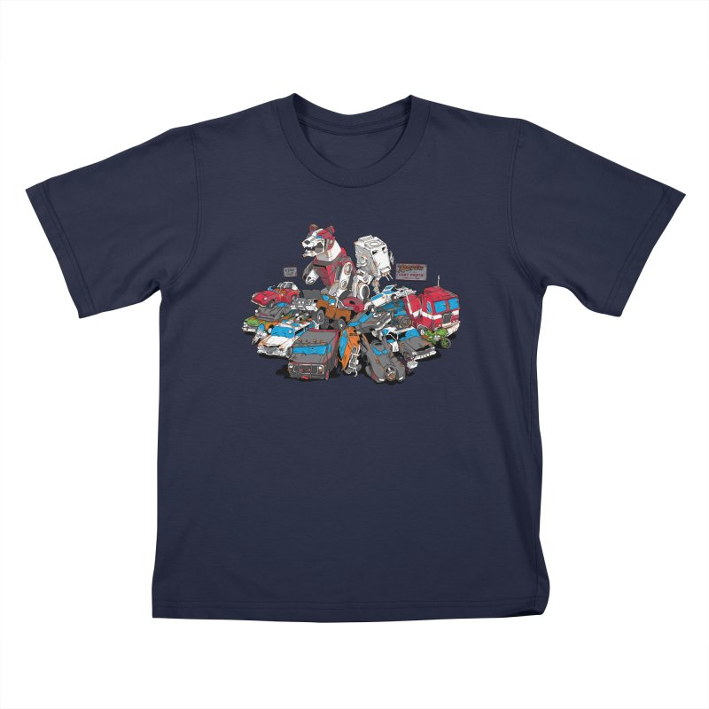 Raiders of the Lost Parts Kids T-Shirt by Ian Leino @ Threadless