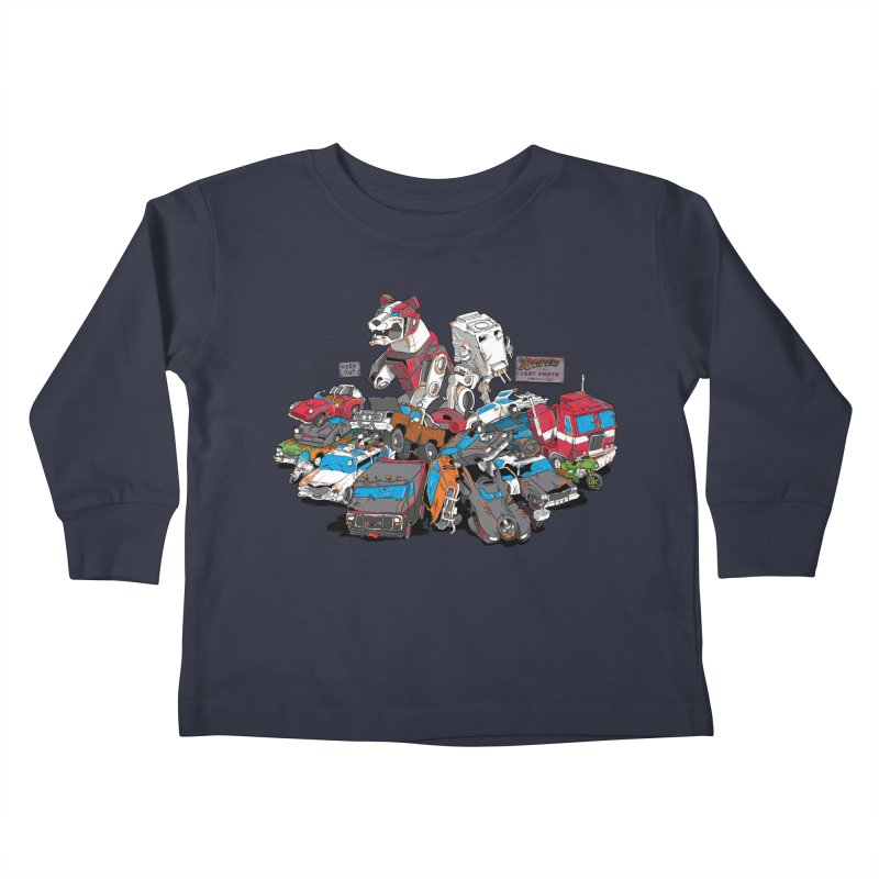 Raiders of the Lost Parts Kids Toddler Longsleeve T-Shirt by Ian Leino @ Threadless