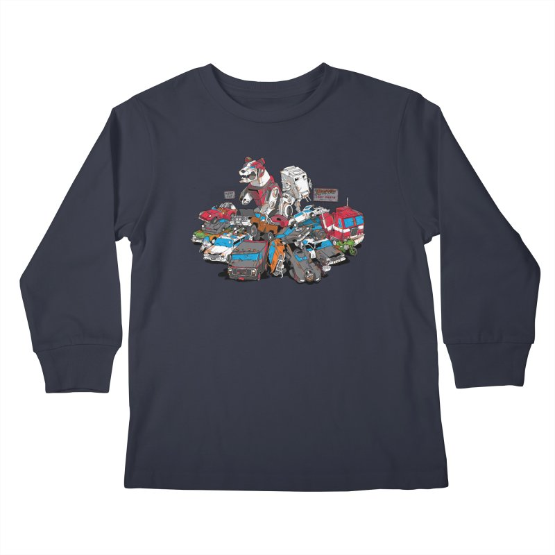 Raiders of the Lost Parts Kids Longsleeve T-Shirt by Ian Leino @ Threadless