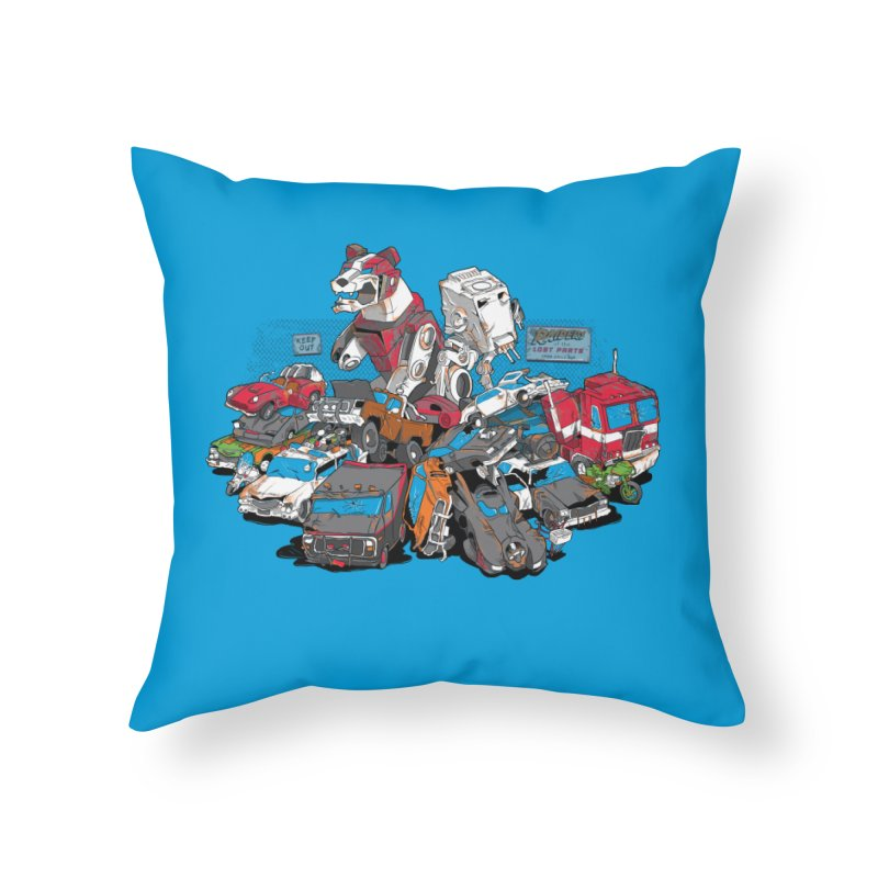 Raiders of the Lost Parts Home Throw Pillow by Ian Leino @ Threadless
