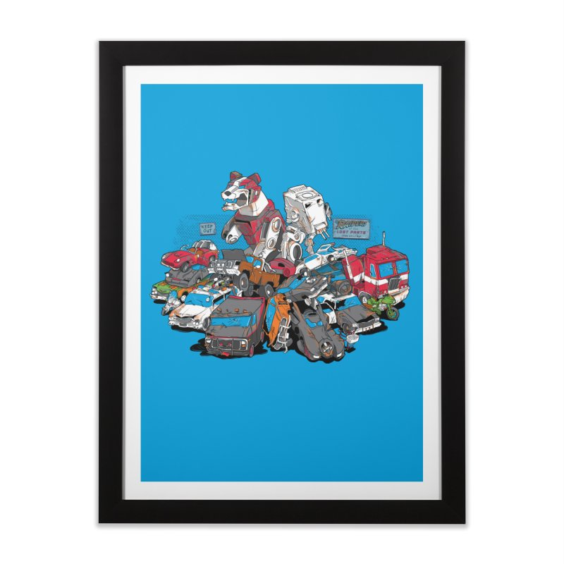 Raiders of the Lost Parts Home Framed Fine Art Print by Ian Leino @ Threadless