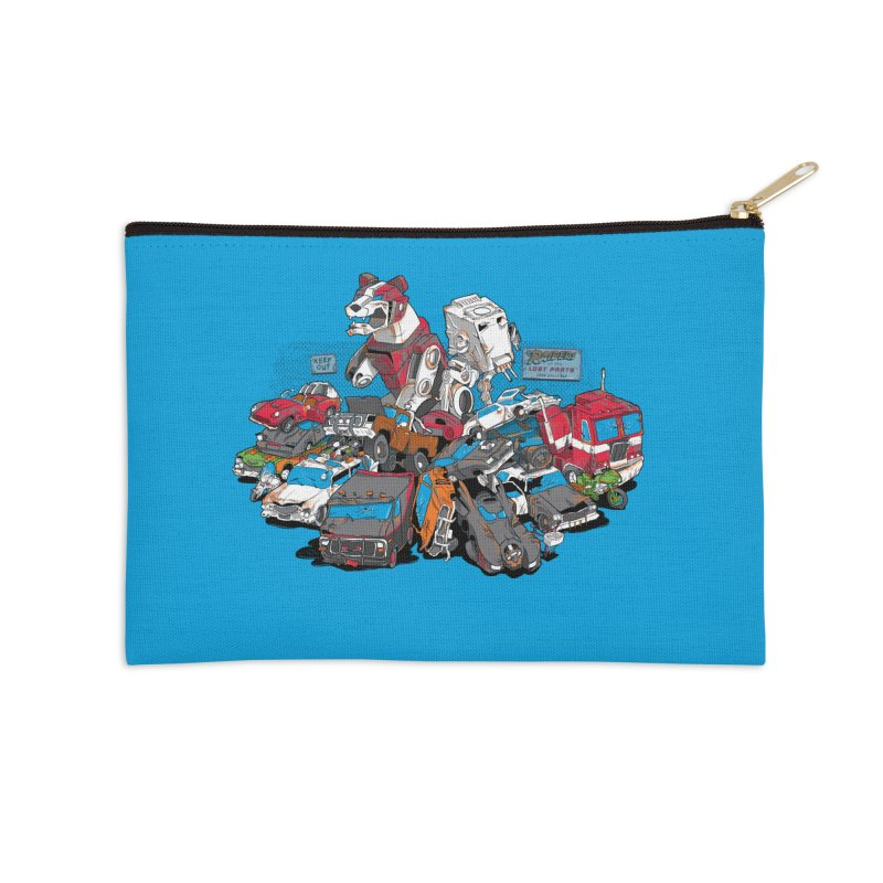Raiders of the Lost Parts Accessories Zip Pouch by Ian Leino @ Threadless