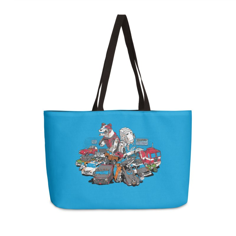 Raiders of the Lost Parts Accessories Weekender Bag Bag by Ian Leino @ Threadless