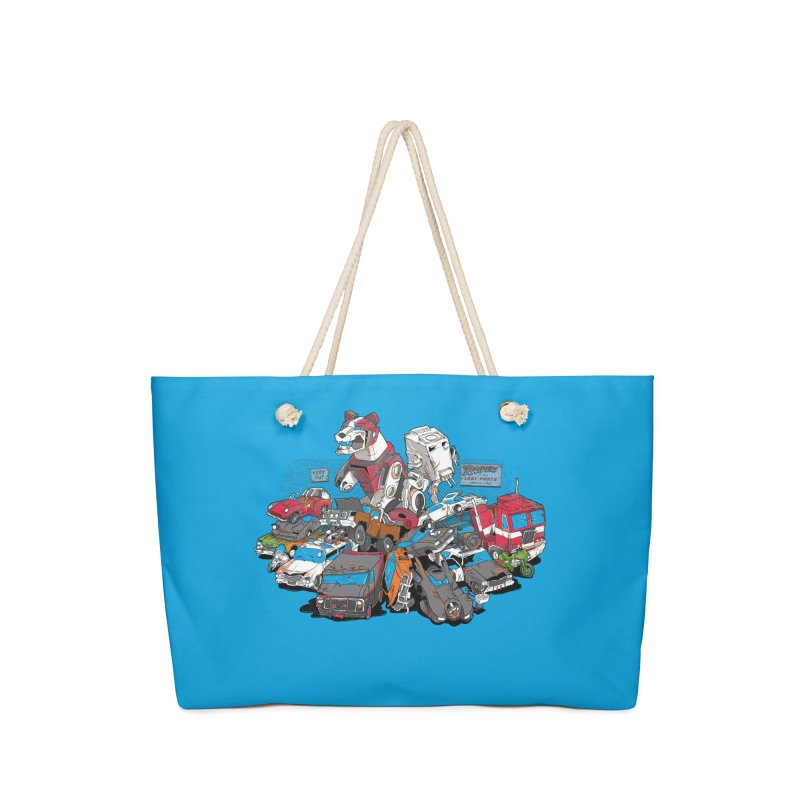 Raiders of the Lost Parts Accessories Bag by Ian Leino @ Threadless