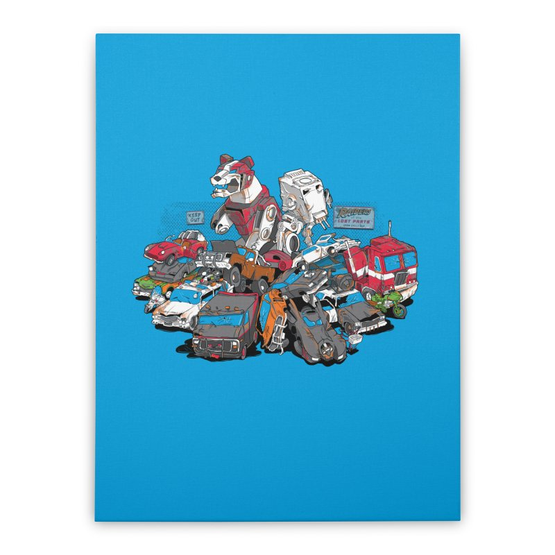 Raiders of the Lost Parts Home Stretched Canvas by Ian Leino @ Threadless