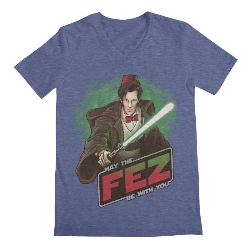 May the Fez be With You Men's Regular V-Neck by Ian Leino @ Threadless