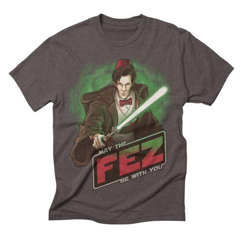 May the Fez be With You Men's Triblend T-shirt by Ian Leino @ Threadless