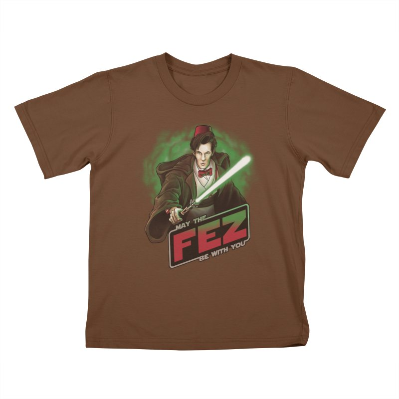 May the Fez be With You Kids T-Shirt by Ian Leino @ Threadless
