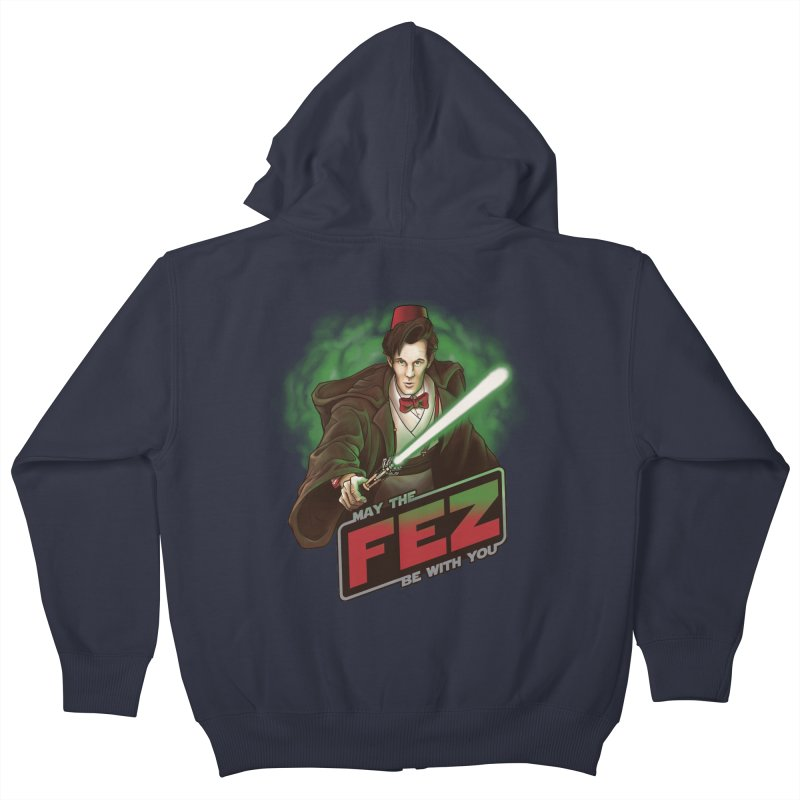 May the Fez be With You Kids Zip-Up Hoody by Ian Leino @ Threadless