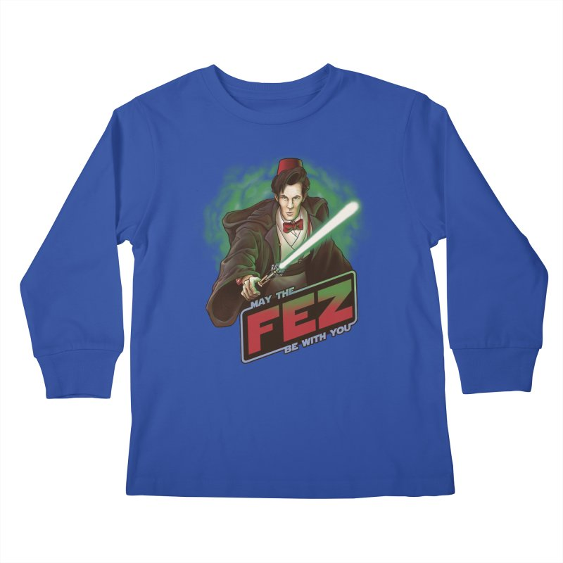 May the Fez be With You Kids Longsleeve T-Shirt by Ian Leino @ Threadless