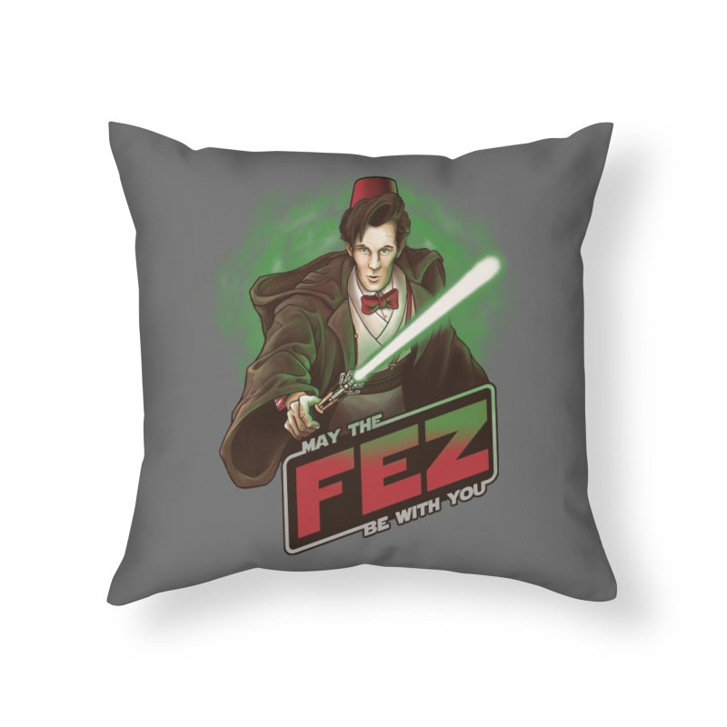 May the Fez be With You Home Throw Pillow by Ian Leino @ Threadless