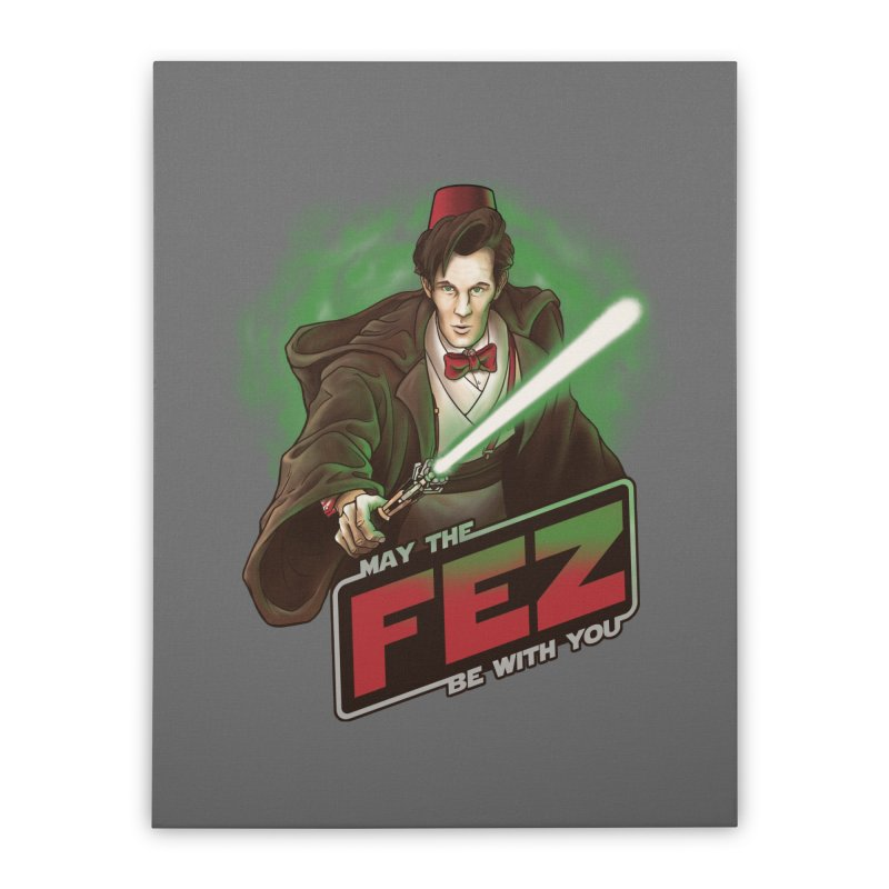 May the Fez be With You Home Stretched Canvas by Ian Leino @ Threadless