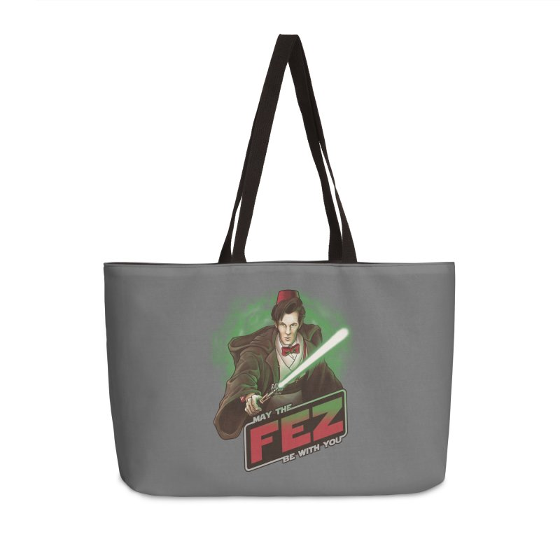 May the Fez be With You Accessories Weekender Bag Bag by Ian Leino @ Threadless