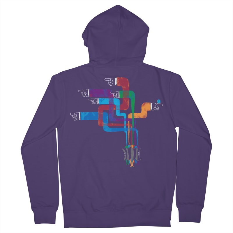 A Strange Sense of Direction Women's French Terry Zip-Up Hoody by Ian Leino @ Threadless