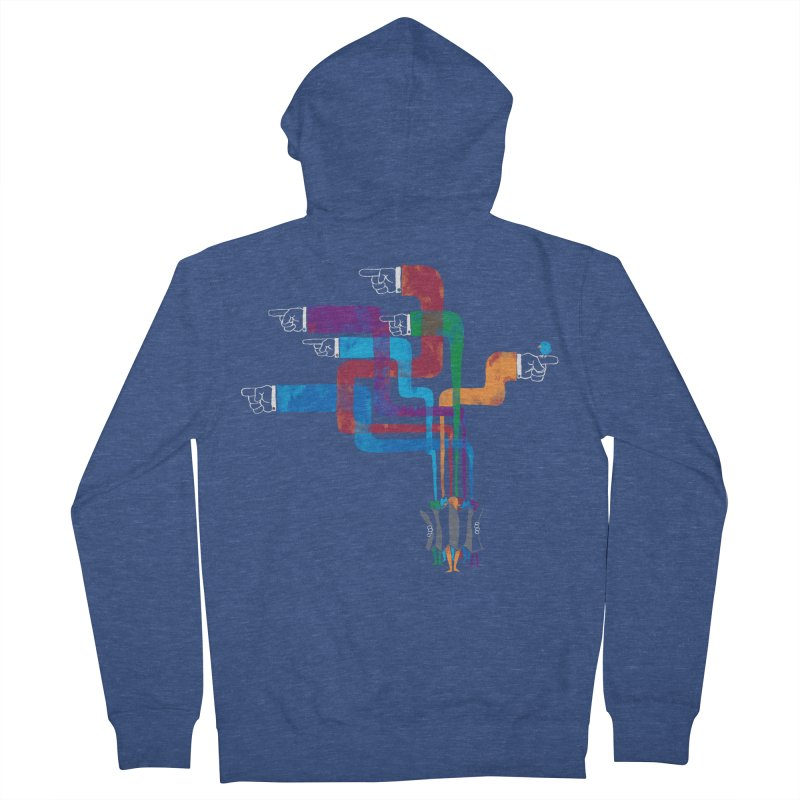 A Strange Sense of Direction Men's Zip-Up Hoody by Ian Leino @ Threadless