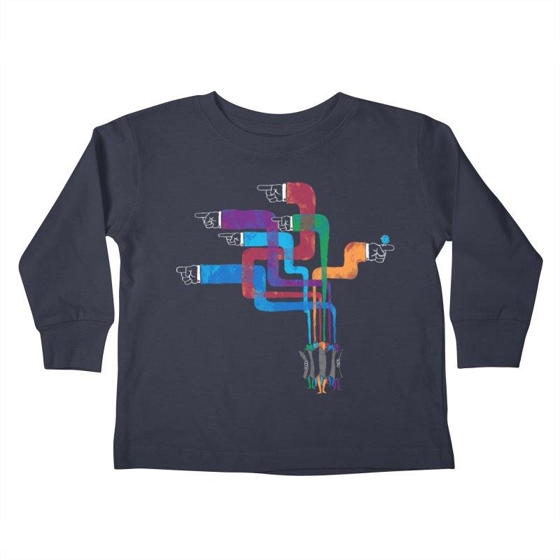 A Strange Sense of Direction Kids Toddler Longsleeve T-Shirt by Ian Leino @ Threadless