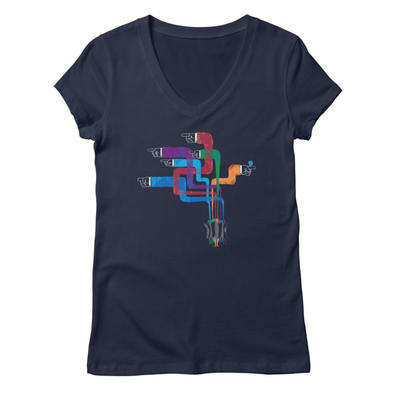 A Strange Sense of Direction Women's Regular V-Neck by Ian Leino @ Threadless