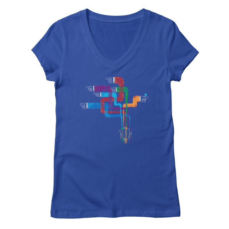 A Strange Sense of Direction Women's V-Neck by Ian Leino @ Threadless