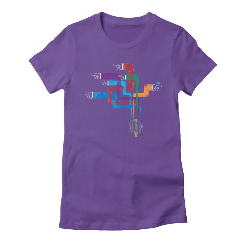 A Strange Sense of Direction Women's Fitted T-Shirt by Ian Leino @ Threadless
