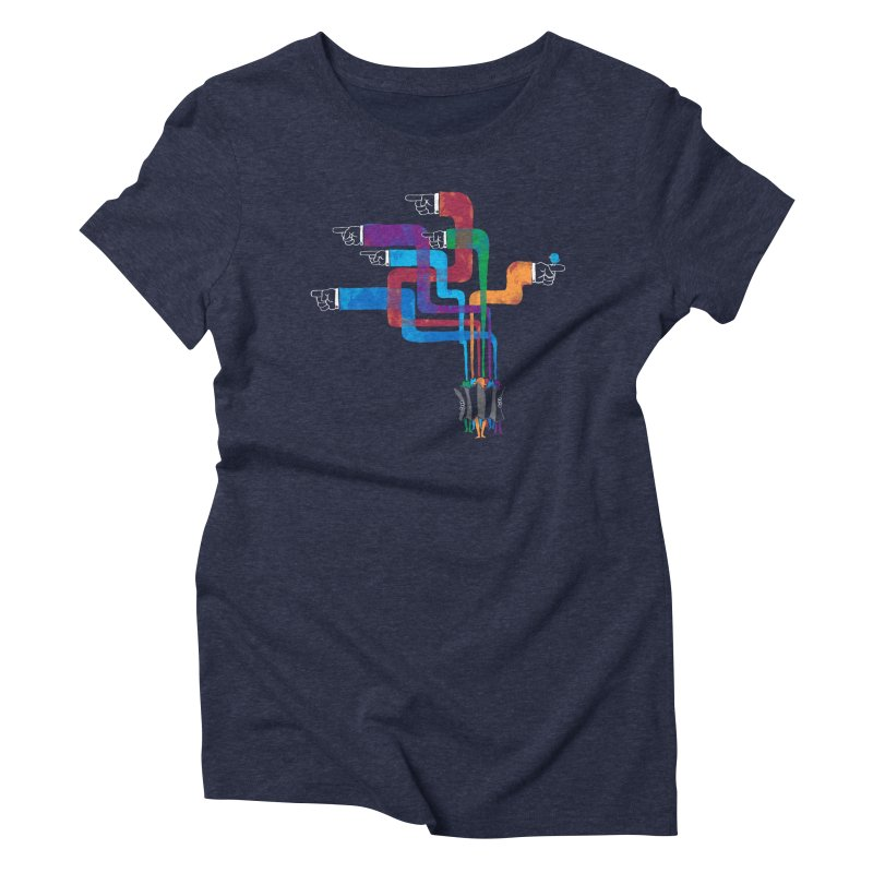 A Strange Sense of Direction Women's Triblend T-Shirt by Ian Leino @ Threadless