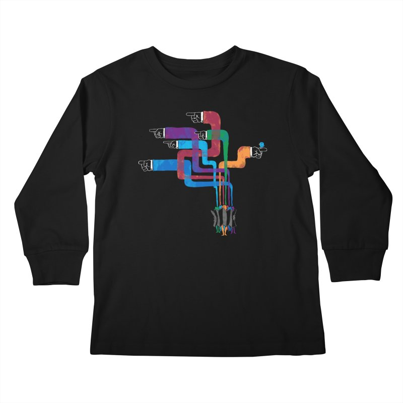A Strange Sense of Direction Kids Longsleeve T-Shirt by Ian Leino @ Threadless