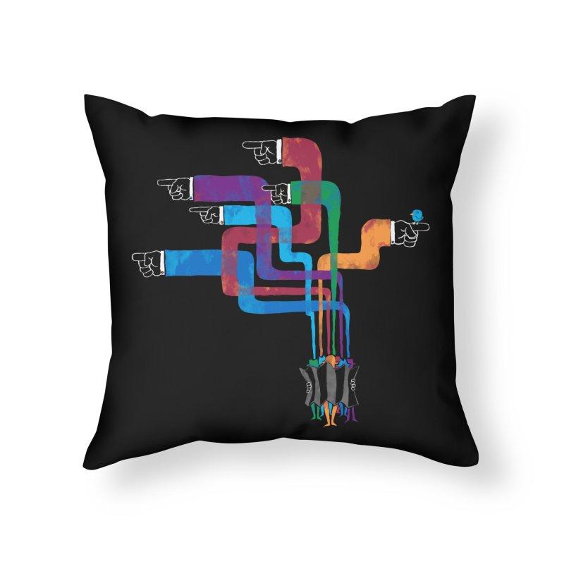 A Strange Sense of Direction Home Throw Pillow by Ian Leino @ Threadless