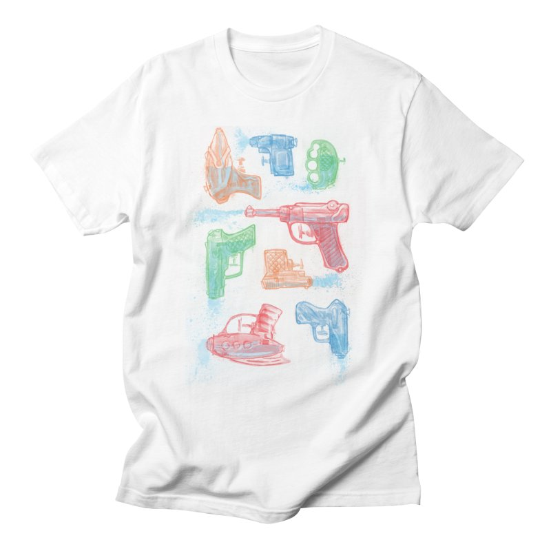 Watercolor Waterguns Men's T-Shirt by Ian Leino @ Threadless