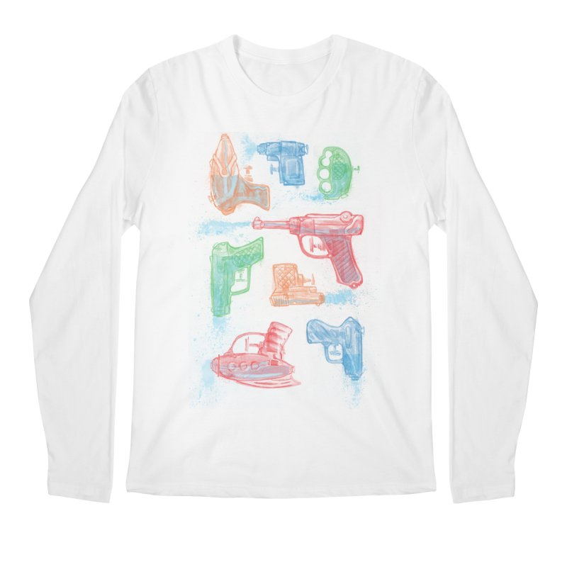 Watercolor Waterguns Men's Longsleeve T-Shirt by Ian Leino @ Threadless