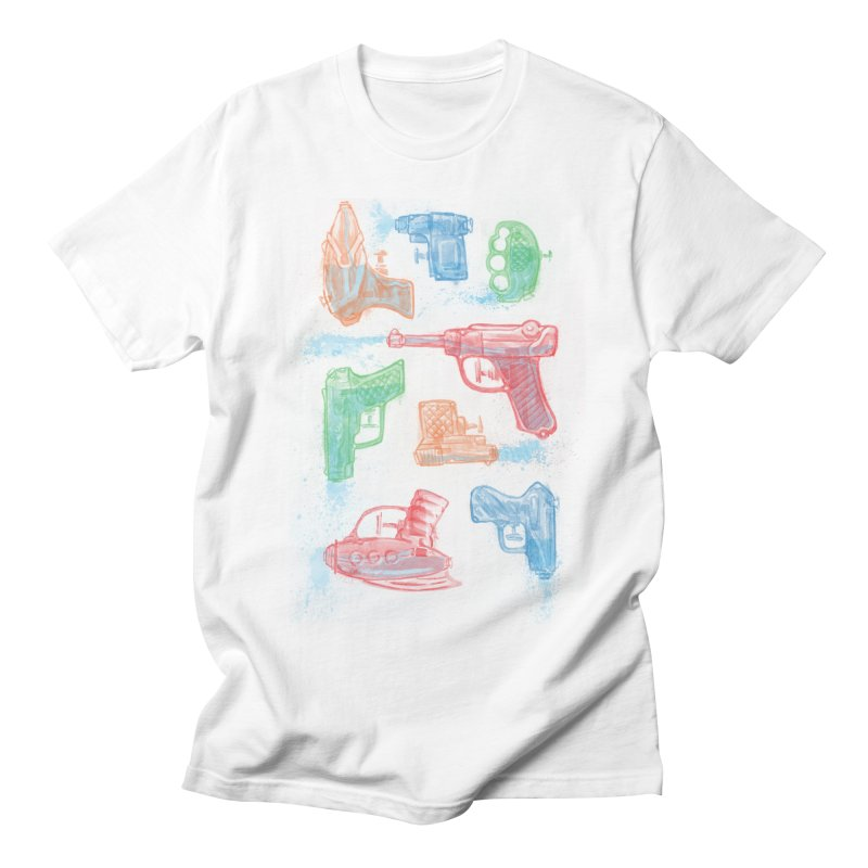 Watercolor Waterguns Men's T-shirt by Ian Leino @ Threadless