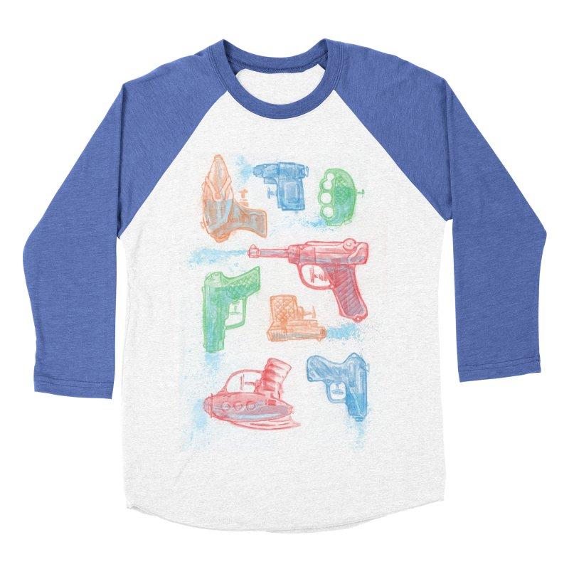 Watercolor Waterguns Women's Baseball Triblend Longsleeve T-Shirt by Ian Leino @ Threadless