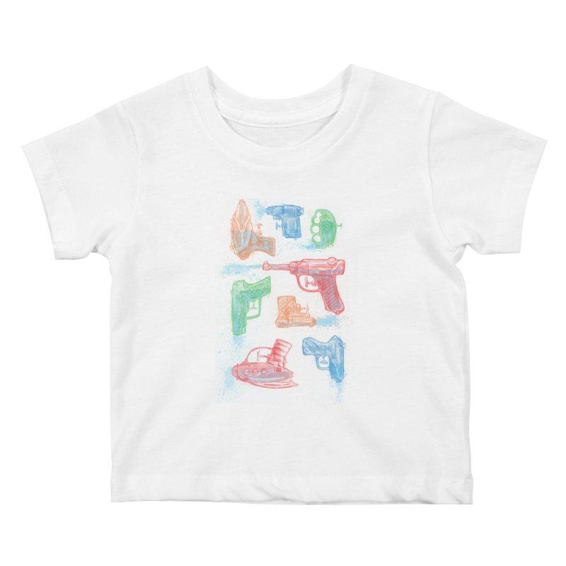 Watercolor Waterguns Kids Baby T-Shirt by Ian Leino @ Threadless