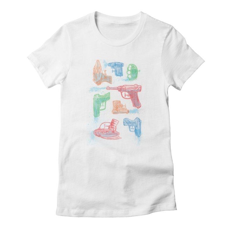 Watercolor Waterguns Women's T-Shirt by Ian Leino @ Threadless
