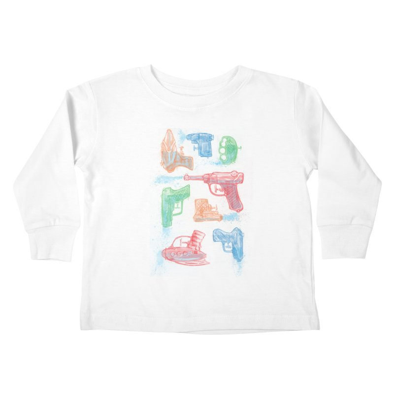 Watercolor Waterguns Kids Toddler Longsleeve T-Shirt by Ian Leino @ Threadless