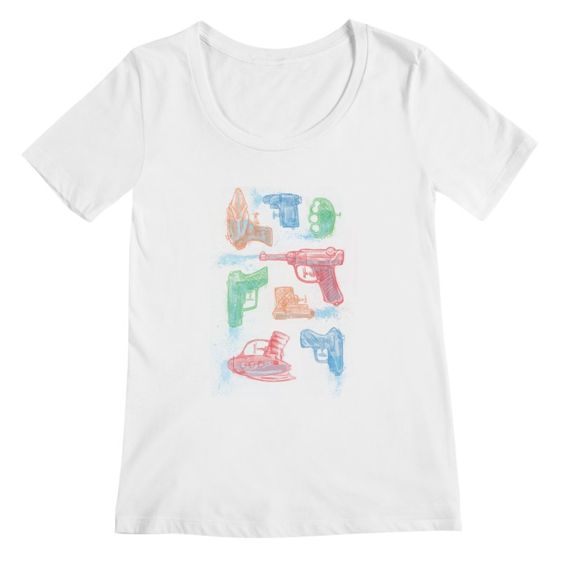 Watercolor Waterguns Women's Scoopneck by Ian Leino @ Threadless