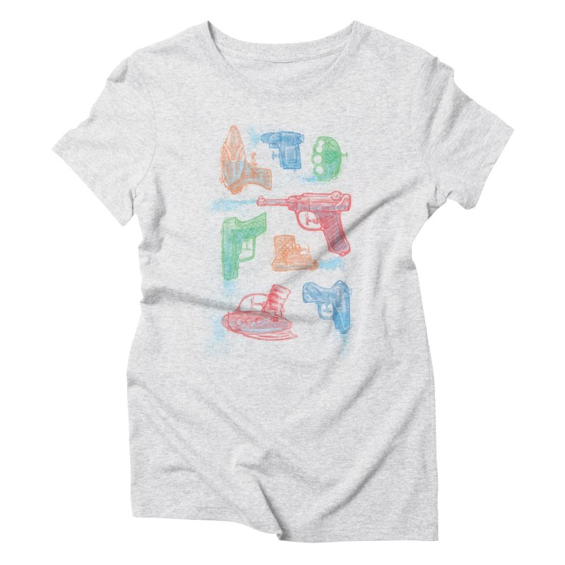Watercolor Waterguns Women's Triblend T-shirt by Ian Leino @ Threadless