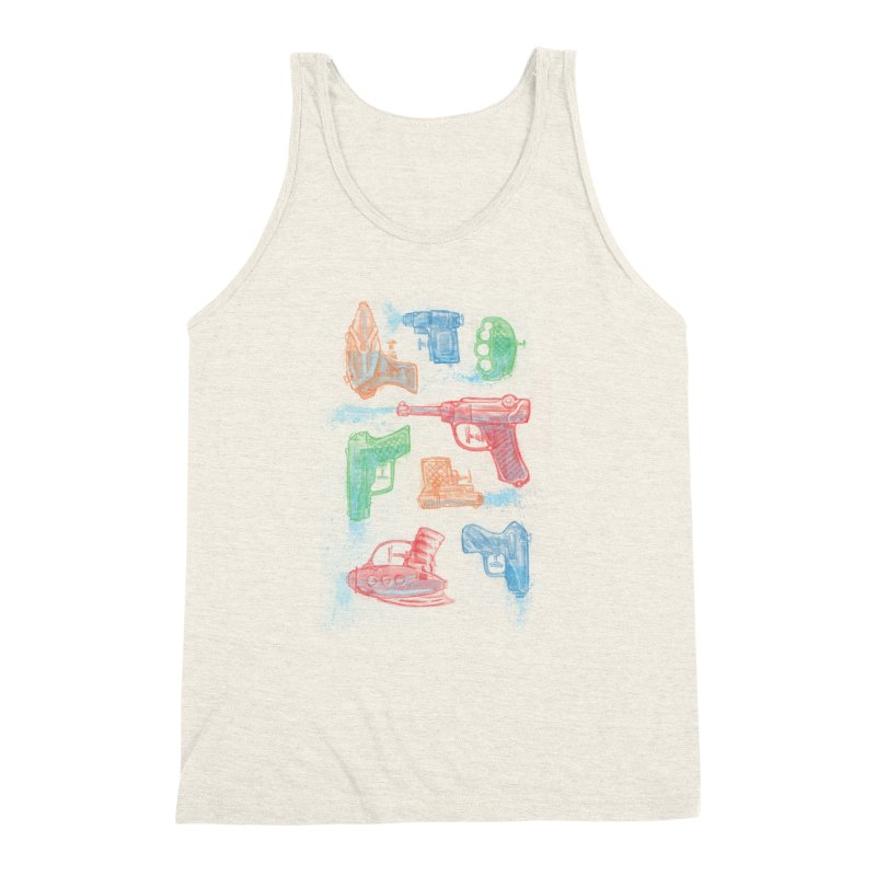 Watercolor Waterguns Men's Triblend Tank by Ian Leino @ Threadless