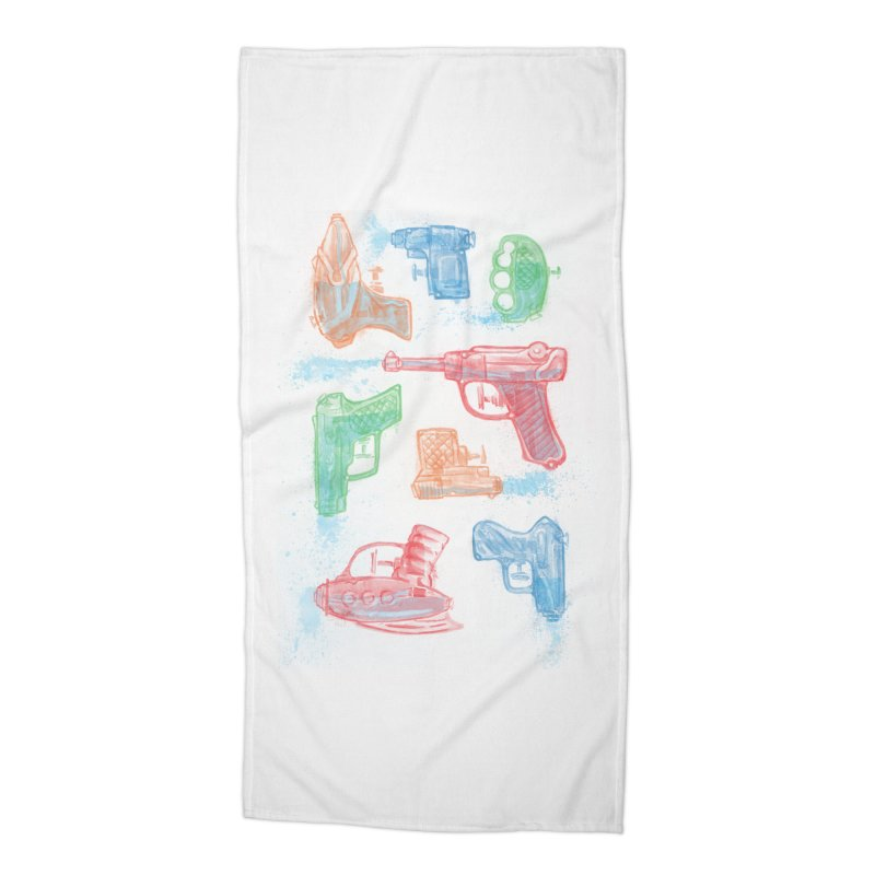 Watercolor Waterguns Accessories Beach Towel by Ian Leino @ Threadless