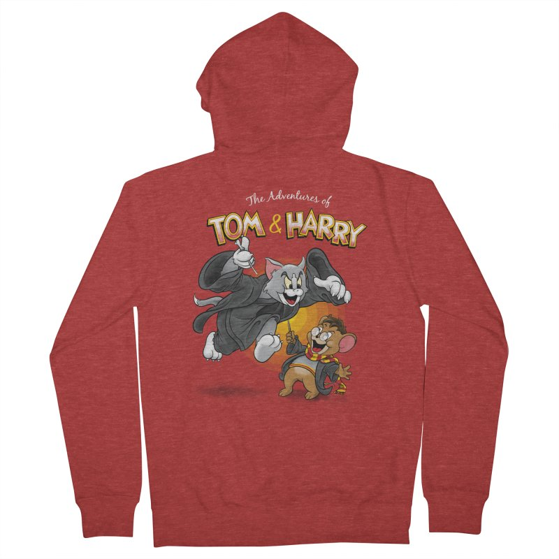 The Adventures of Tom & Harry Men's French Terry Zip-Up Hoody by Ian Leino @ Threadless