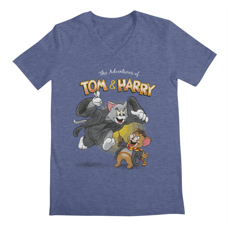 The Adventures of Tom & Harry Men's V-Neck by Ian Leino @ Threadless