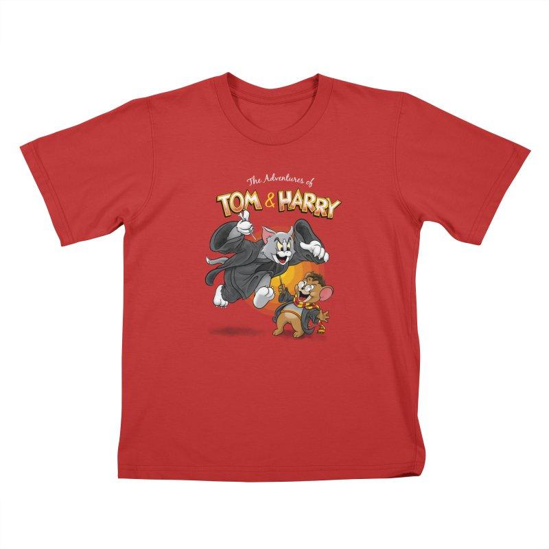 The Adventures of Tom & Harry Kids T-Shirt by Ian Leino @ Threadless