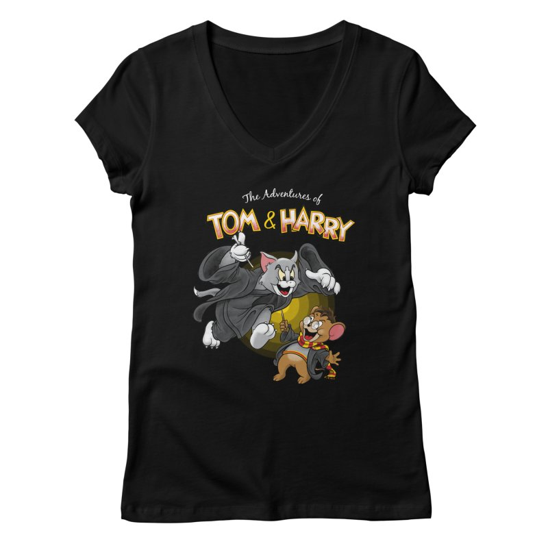 The Adventures of Tom & Harry Women's Regular V-Neck by Ian Leino @ Threadless