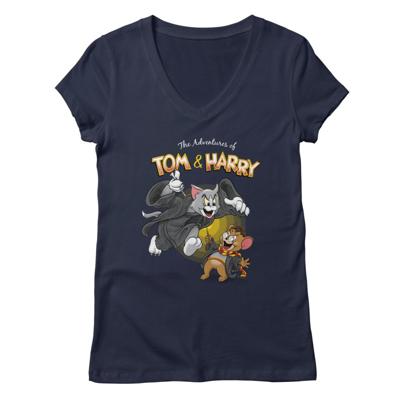 The Adventures of Tom & Harry Women's Regular V-Neck by Ian Leino @ Threadless