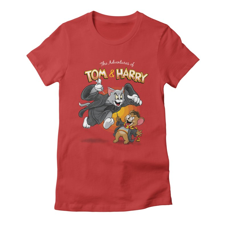 The Adventures of Tom & Harry Women's Fitted T-Shirt by Ian Leino @ Threadless