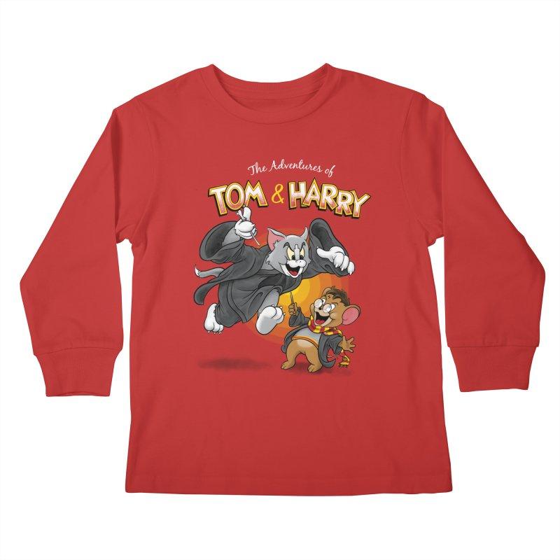 The Adventures of Tom & Harry Kids Longsleeve T-Shirt by Ian Leino @ Threadless