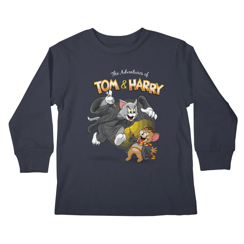 The Adventures of Tom & Harry Kids Longsleeve T-Shirt by Ian Leino @ Threadless