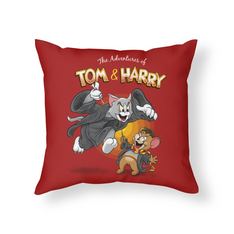 The Adventures of Tom & Harry Home Throw Pillow by Ian Leino @ Threadless